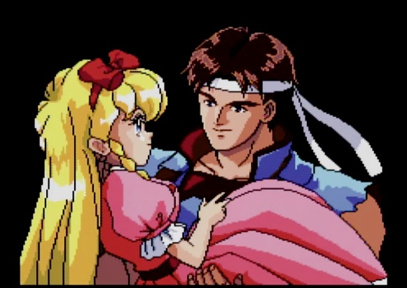 Castlevania Rondo of Blood weird cutscene for the PC Engine SUPER CD-ROM #PCEngine #PCE #NEC #PC #Engine #SUPER #CD-ROM #Castlevania #Rondo #of #Blood #RoB #Cutscene #Anime #Retro #Gaming