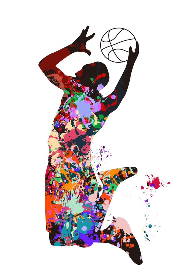 Basketball Player Competition Sports Active Watercolor Painting ...
