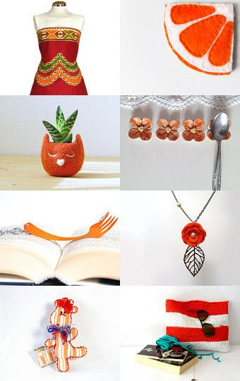 Orange for autumn, home and fashion by Lisa P on Etsy--Pinned with TreasuryPin.com