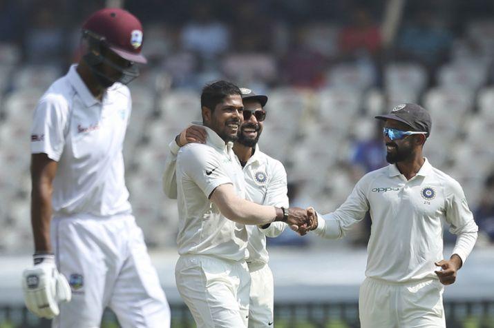 Live cricket score india west indies test match