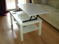 Ikea hack: convertir la mesa lack en mesa elevable : x4duros.com Más