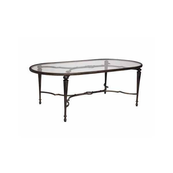 Landgrave Veracruz Cast Aluminum 44 x 85.5 Oval Glass Dining Table ($1,929) ❤ liked on Polyvore featuring home, outdoors, patio furniture, outdoor tables, outdoor furniture, outdoor garden furniture, outdoor patio furniture, aluminium outdoor furniture and aluminum patio table