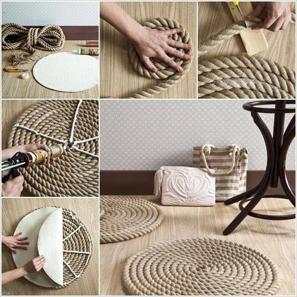una alfombra muy facil de hacer..