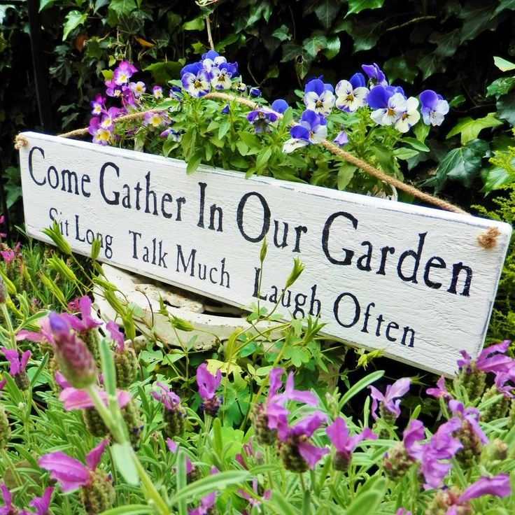 personalised come gather in our garden sign
