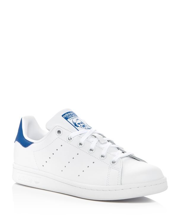 Adidas Stan Smith Foundation Lace Up Sneakers | Leather upper, textile and synthetic leather lining, EVA sole | Made in India | Fits large, order the next size down | Available in full and half sizes