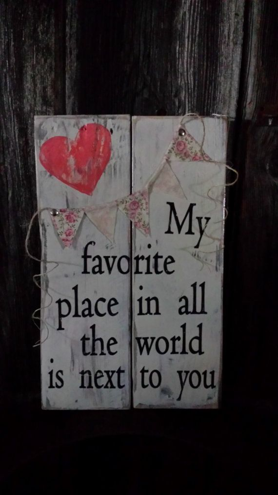 Reclaimed wood, pallet wood, wood sign, love, wedding, anniversary, shower, home decor, CHRISTMAS, Valentine, My favorite place