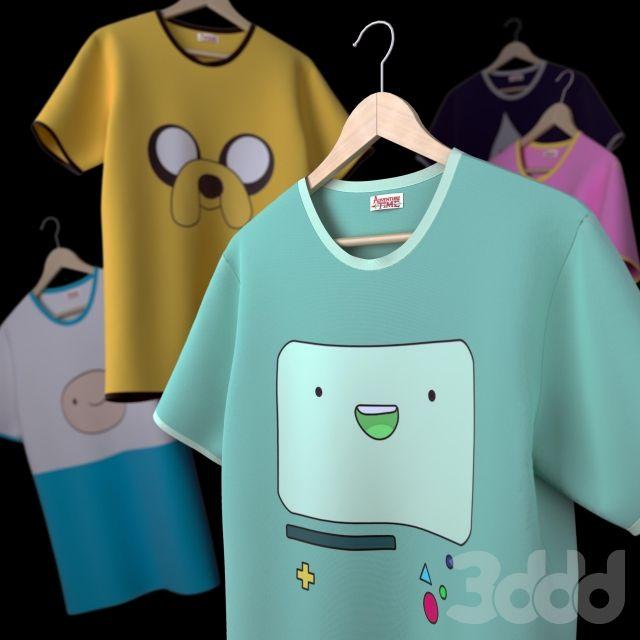 """3d модели: Другие предметы интерьера - Коллекция футболок """"Время приключений"""""""