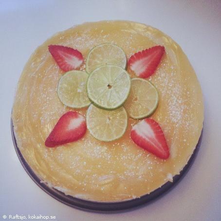 Recept: Cheesecake med lemoncurd