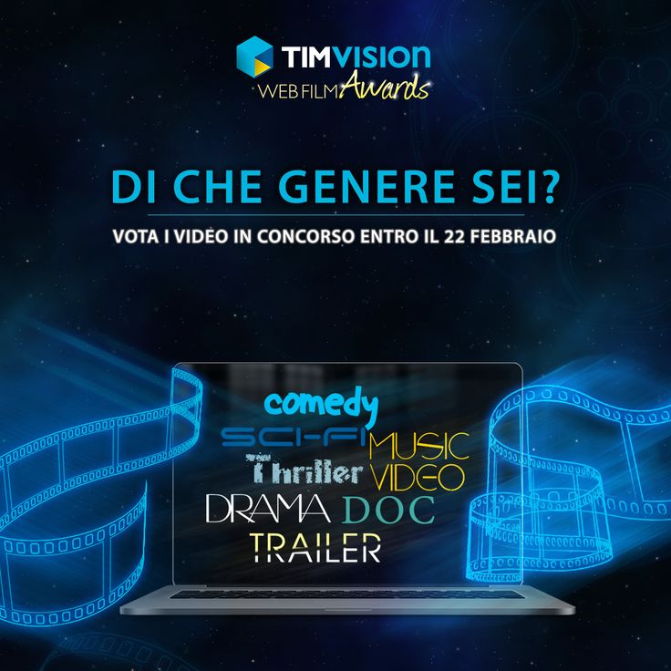 Commedia, thriller, documentario, music video…Qual è il tuo genere preferito? Guarda e vota i tuoi video preferiti in concorso su TIMvision Awards. Hai tempo fino al 22 febbraio!