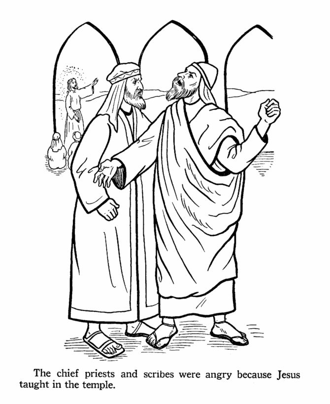 113 best images about printable coloring pages games on for Jesus and the money changers coloring page