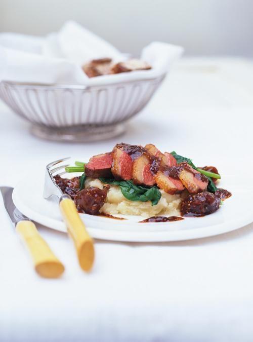 Magrets de canard aux figues et aux épices