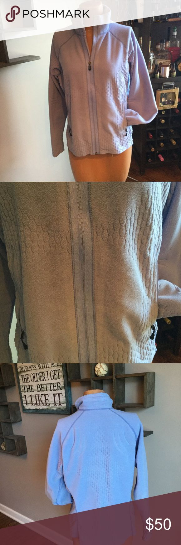 Patagonia fleece jacket Woman's fleece Patagonia jacket does have a couple spots and it needs to be laundered but I don't want to wash one some people are allergic to certain products have any questions please feel free to ask thank you for looking and happy poshing Patagonia Jackets & Coats