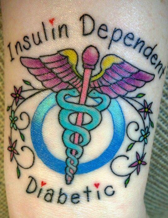 Medical Alert Tattoo, diabetes, type 1
