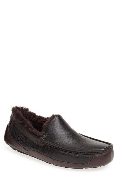 UGG® Australia 'Ascot' Leather Slipper (Men) | Nordstrom - 119$