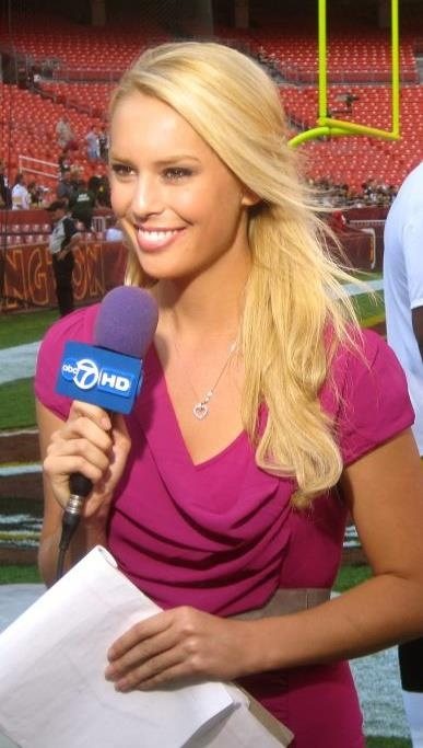 """An Officer and an Auction"" Emcee Britt McHenry of WJLA-TV, ABC 7"