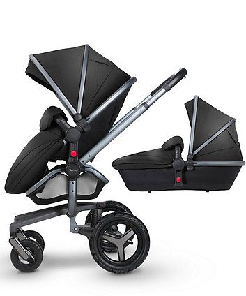 Silver Cross Surf 3 Complete Pram and Pushchair - Black & Graphite