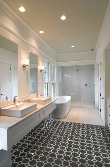 Contemporary Master Bathroom With Simple Granite Troy Lighting Bentley 1 Light Bath Wall Sconce Crown Molding Vessel Sink