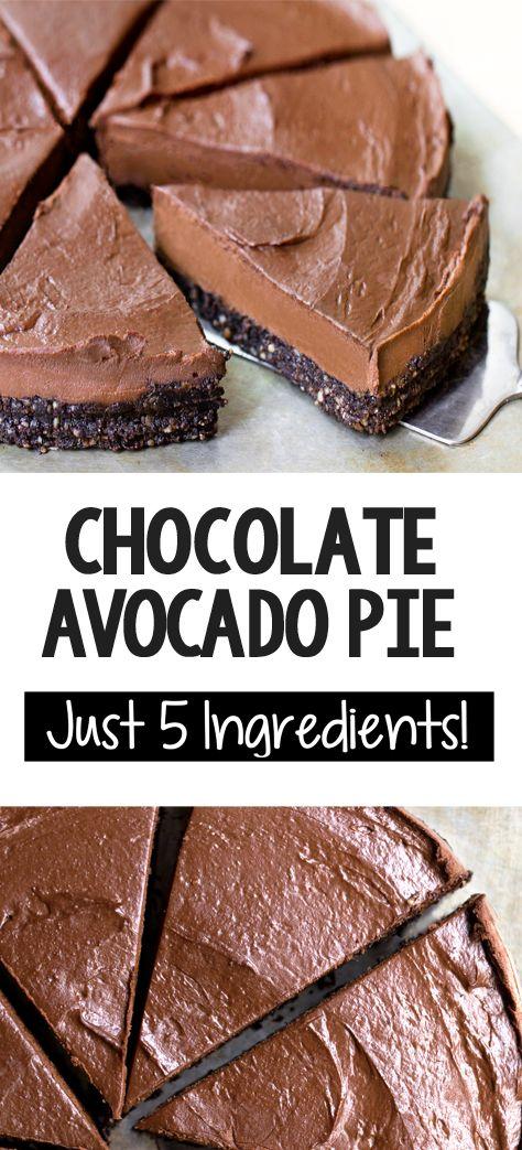 4bb2befd58087e98d9ebae04c501c53d 5 Ingredient Chocolate Avocado Pie