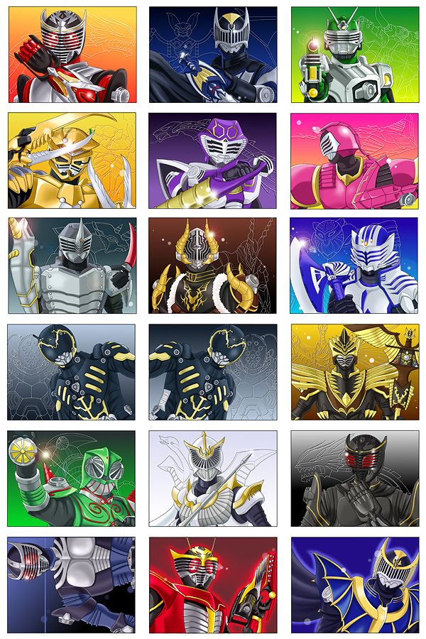 13-Riders (+5) from Masked Rider Ryuki and Monster's (Reprint from my pixiv-page)