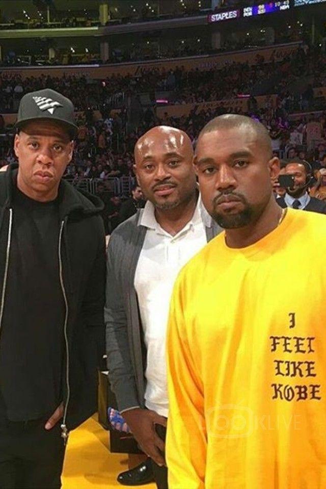 Kanye West wearing  Fan Merchandise I Feel Like Kobe Sweater, Adidas Yeezy FW16 750 Boost, Maison Margiela Yeezus Tour Tie Dye Jeans