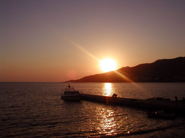 Syros, Sunset in Posidonia beach (Personal photo)