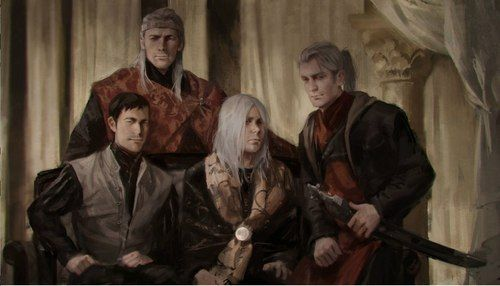 Daeron_Targaryen_(son_of_Aegon_V) | Aegon V with his sons Daeron, Jaehaerys and Duncan (better quality ...