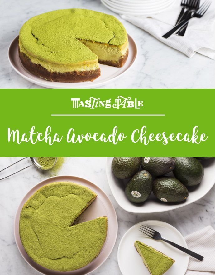 Go green with matcha and California Avocados in the creamiest, easiest classic cheesecake ever.
