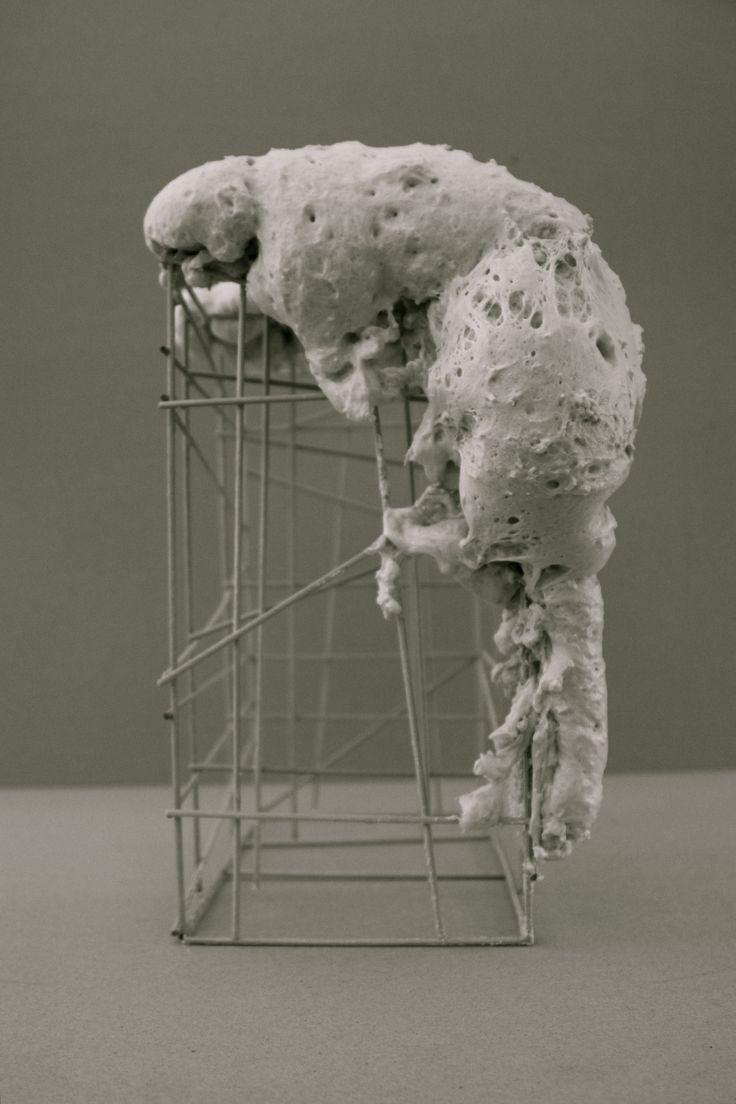 Concept Model: The Parasite. Made of construction foam.