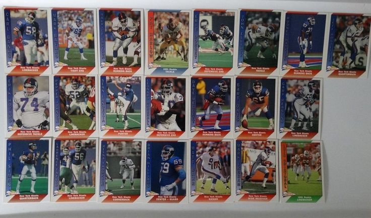 1991 Pacific New York Giants Team Set of 22 Football Cards #NewYorkGiants
