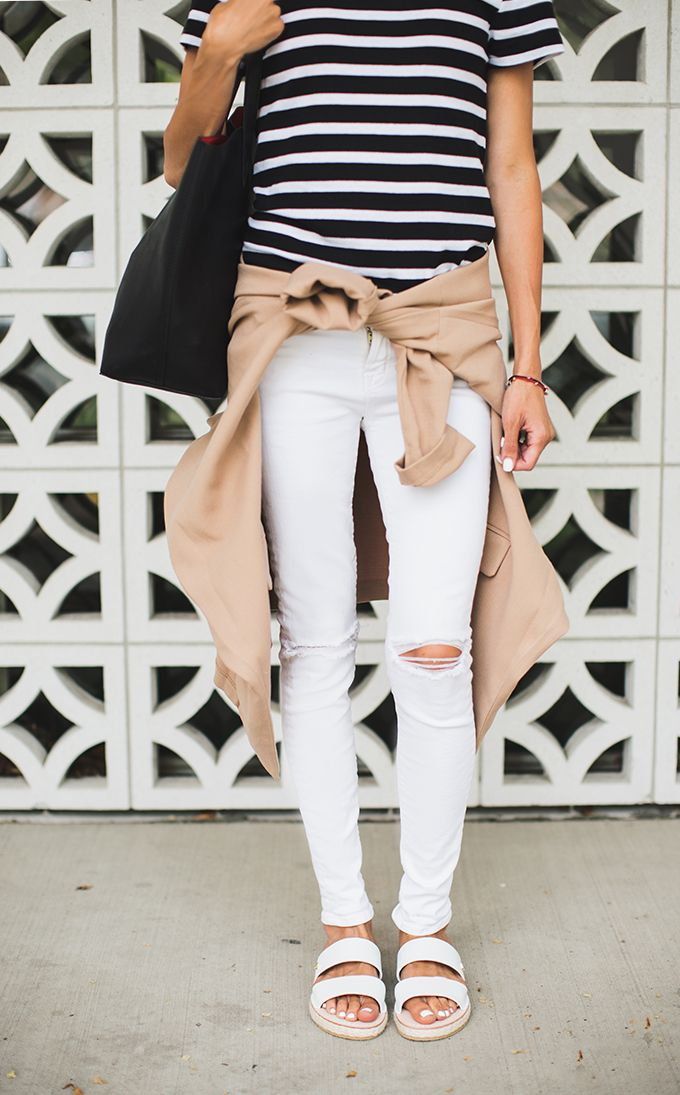 stripes and sandals