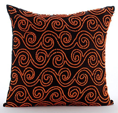 Handmade Brown Decorative Pillows Cover, Orange Beaded Sc... https://www.amazon.com/dp/B016H8WBSW/ref=cm_sw_r_pi_dp_x_N1D.yb3XMK6F8