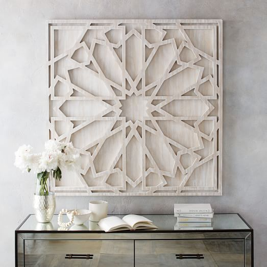 "Whitewashed Wood Wall Art | west elm; $349, 48"" sq. (Big) Would look nice over white sofa table, if you move it by the front door, like we talked about.*"