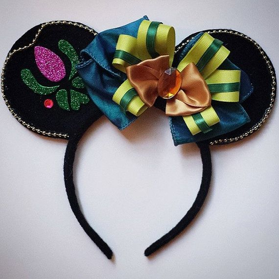 Anna Coronation inspired Minnie Mouse Ears by MakeMeMinnie on Etsy