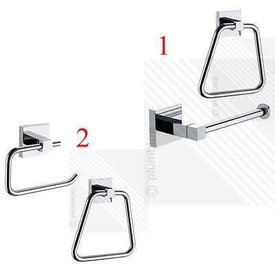 #Bathroom accessories set modern toilet roll #holder #towel ring chrome wall moun,  View more on the LINK: http://www.zeppy.io/product/gb/2/121511602312/