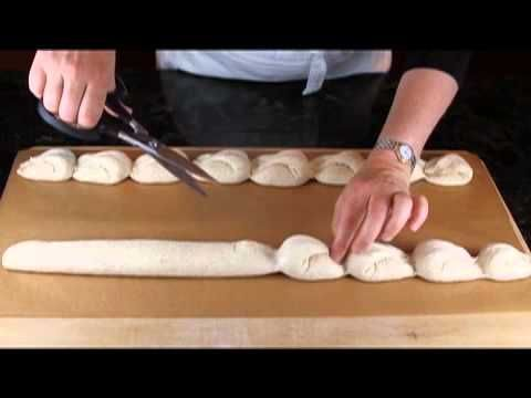 Shaping a dragon tail baguette - YouTube