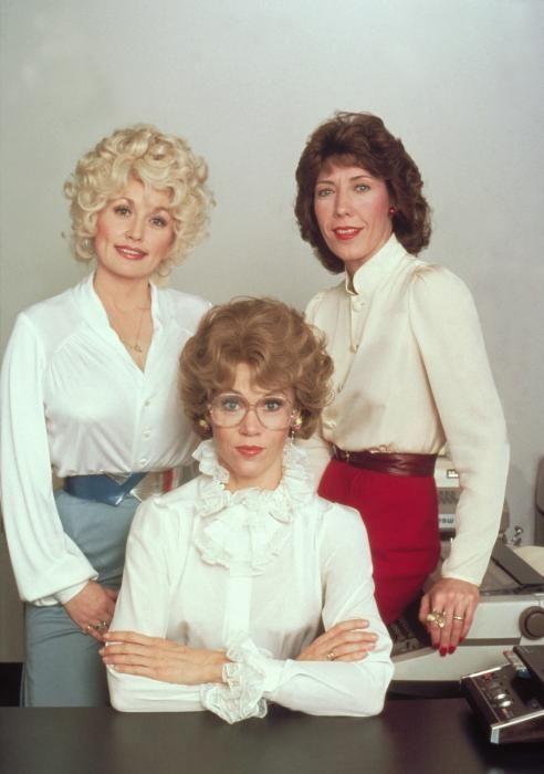 "Cast of the movie ""Nine to Five"" - L-R Dolly Parton, Jane Fonda, Lily Tomlin"