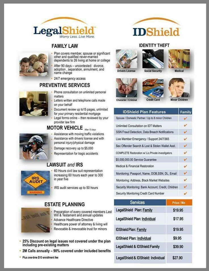 LegalShield ~ Get quality legal advice, consultation and an attorney with LegalShield. Affordable personal legal plans, identity theft protection and business legal services. See How you can www.haveaccesstoday.com or call/text 318-405-1729 or 318-415-8584