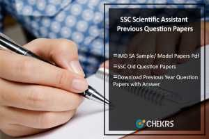 SSC Scientific Assistant Previous Question Papers IMD SA Sample/ Model Papers Pdf http://j.mp/2w0wBuY