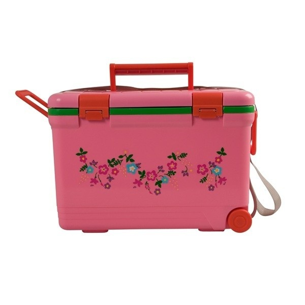 Sweet Floral Cooler with Wheels (Pink)