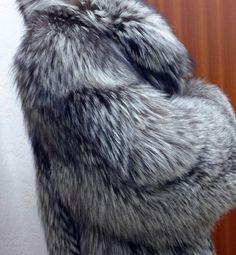 Pelzjacke, Saga Fox Silberfuchs Pelzjacke,Silverfox Fur Jacket