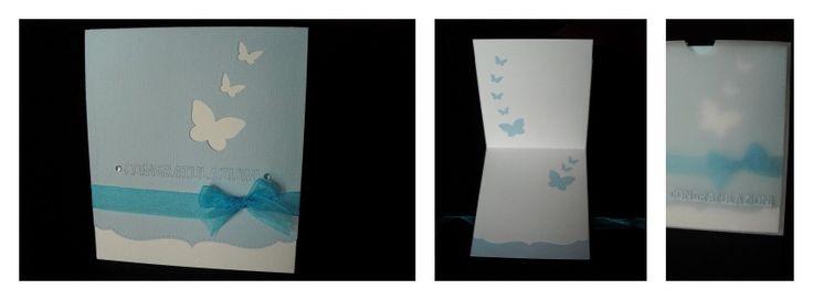 """Biglietto per un anniversario di matrimonio realizzato con le fustelle di """"La Coppia Creativa""""  http://www.lacoppiacreativa.com/"""