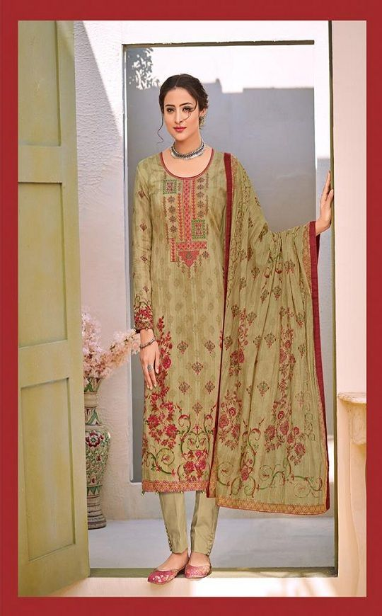27b6747c39 House Of Lawn Naitra Pure Jam Satin Print With Designer Embroidery Suit 104