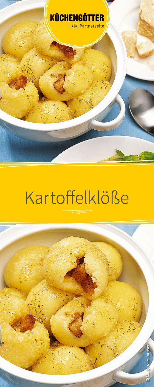 Rezept für selbstgemachte Kartoffelklöße. Passt auch ideal als Beilage zum Festessen.