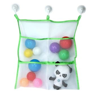 ของดี  Leegoal Bath Toy Organizer-Large Storage for Baby/Kids Toys + 3Bonus Strong Hooked Suction Cups, Green+White  ราคาเพียง  177 บาท  เท่านั้น คุณสมบัติ มีดังนี้ Material:Polyester fabric with highelasticity;Size:16x17inch Large storage bag:Keep your bathroom organized and clean 3 Bonus suction cups can hold most of the weight ,which hasheavy duty for long life The mesh netting allows for water to completely drain from thebag and prevents unhealthy mold No Hassle Money Back Guarantee:If…