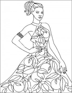 24 best Free Fashion coloring book images on Pinterest ...