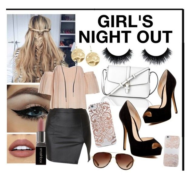 """""""GIRL'S NIGHT OUT"""" by bucketlistdiary on Polyvore featuring L.K.Bennett, Alice In The Eve, Nanette Lepore, Karen Kane, Vince Camuto, Linda Farrow, Eye Candy, NYX and Smashbox"""