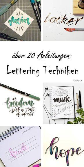 Lettering Techniken – Isabell Gläßer