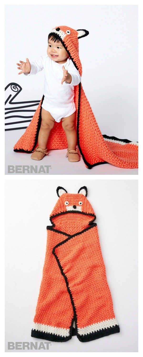 Fox Blanket Free Crochet Pattern