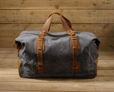 Waxed Canvas Duffle Bag / Weekend Bag / Duffel Bag Men / Men Duffle Bag / Weekender Bag / Leather Duffle Bag / Mens Duffel Bag / Gym Bag(S29)