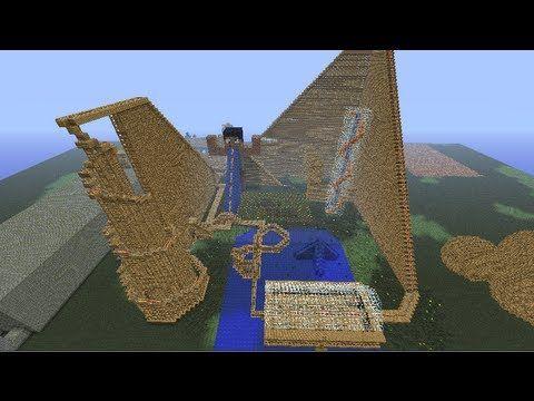 Minecraft wooden roller coaster